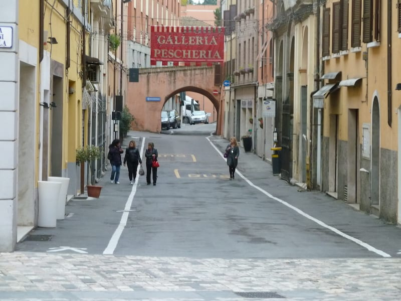 Close to the Malatestiana Library, Via Pescheria (Fish Market Street)t