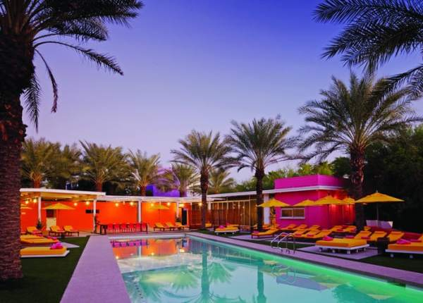 Saguaro Hotel Pool at Dusk