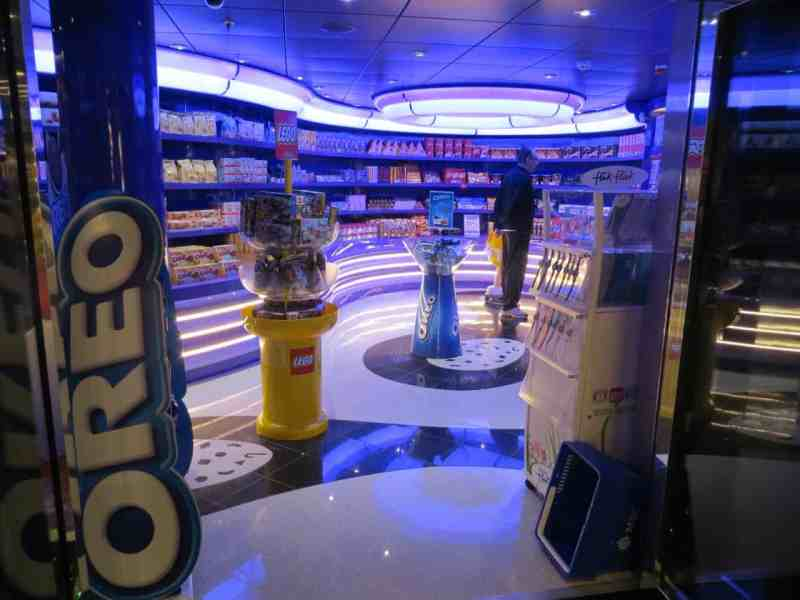 The Oreo shop on MSC Divina is a kid-pleaser