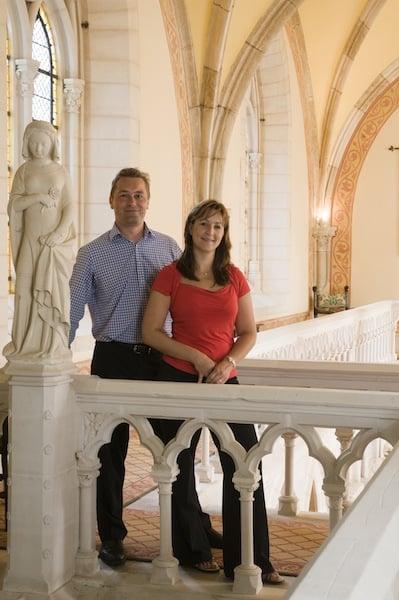 Clive & Tabith Cummings - Proprietors of the Abbaye (Credit: Abbaye de la Bussiere)