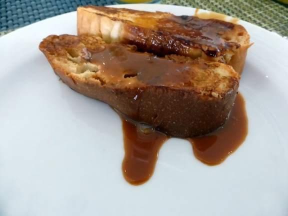 French toast with cajeta