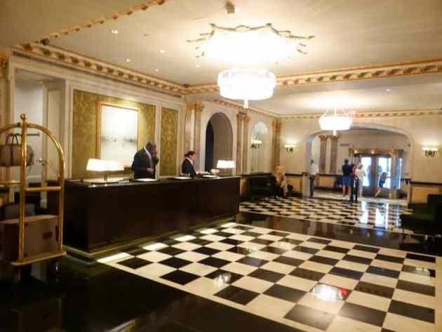 Elegant lobby at The Pierre