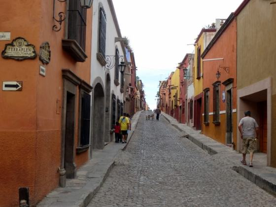 The cobblestone streets of San Miguel