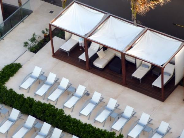 Cabanas Near the Pool
