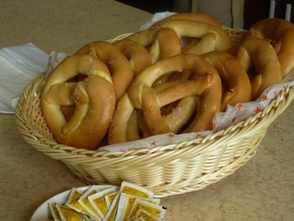 The Chef's Award-Winning Pretzels at the Coffee Bar