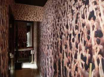 Bathroom Wallpaper at Hotel Matilda