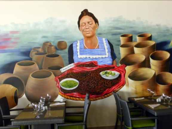 Wall mural in the Market Cafe in Secrets Huatulco