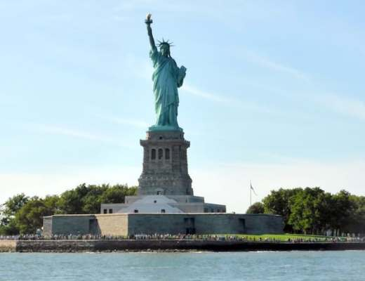 View of the Statue of Liberty from our recent Circle Line Tour of NYC