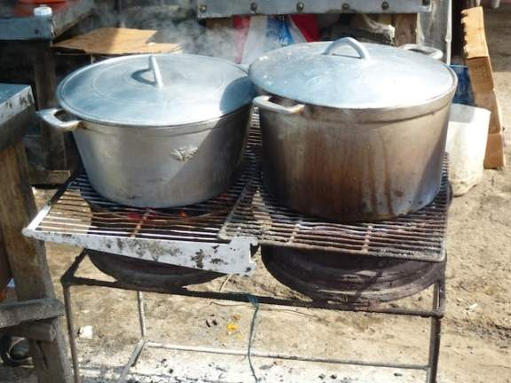 Chicken Stew Cooking at the Market