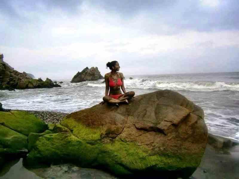 vacationer at the Mud Baths (Photo: Susan Campbell)