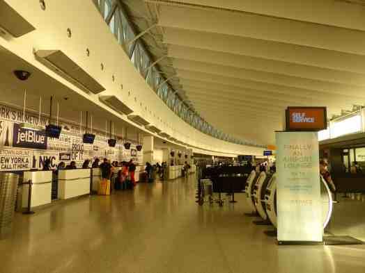 Ticket counters at Terminal 5 JFK