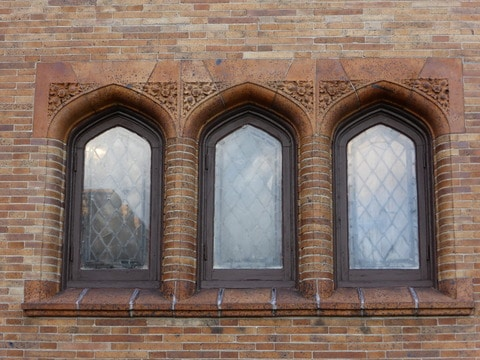 The Mansion's Leaded Windows