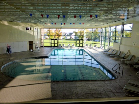 The indoor lap pool