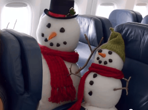 Delta's in-flight holiday safety video