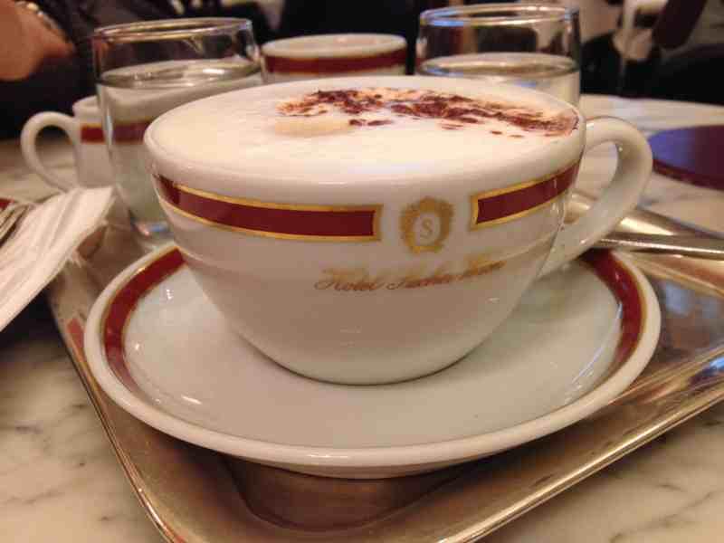 Cappuccino at Cafe Sacher