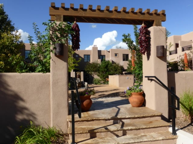 One of the pretty courtyards on the property