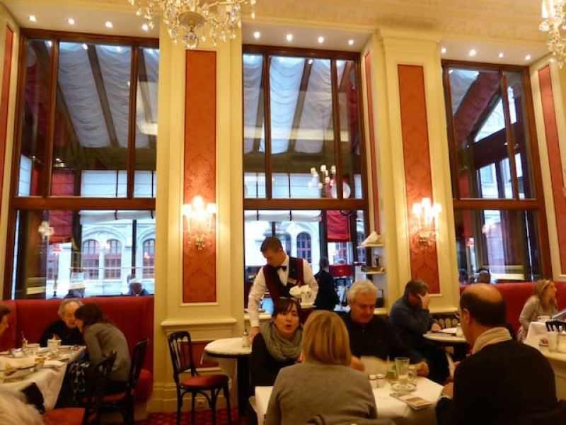 Interior of the Sacher cafe - Home of the Sacher-Torte