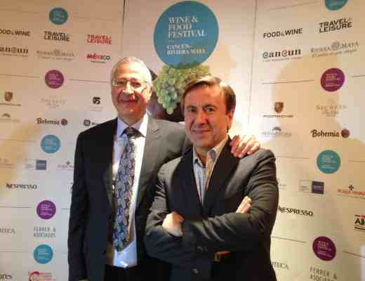Chef Daniel Boulud with David Amar, founder of the Cancun-Riviera Food Festival