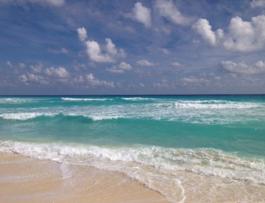 View of the Caribbean in Cancun