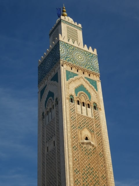 The largest mosque in (Casablanca) Morocco