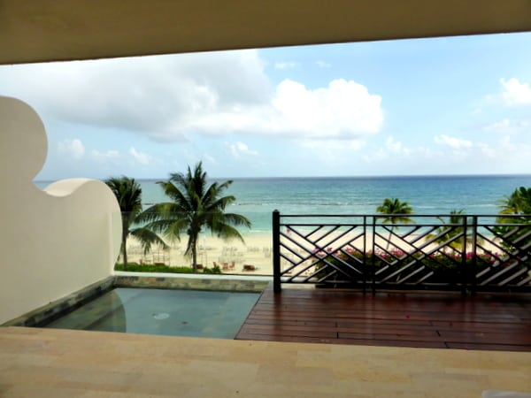 Our private patio and plunge pool
