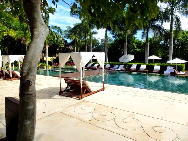 Two of the pool areas at Zen Grand Class