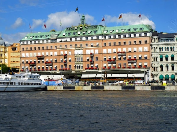 View of the Grand Hotel Stockholm from the Water