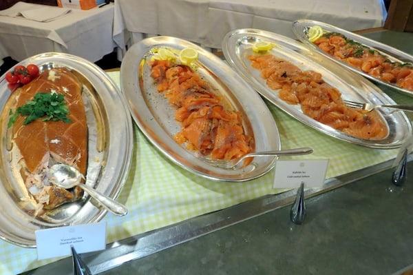 Platters of Smoked Salmon and Gravlax (Credit: Jerome Levine)