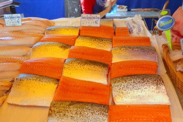 Beautifully presented salmon