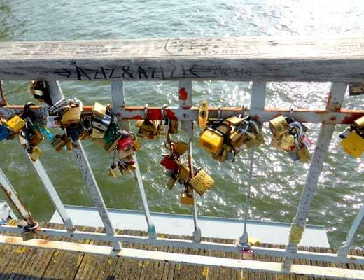 More Love Locks on the Passerelle Debilly Footbridge