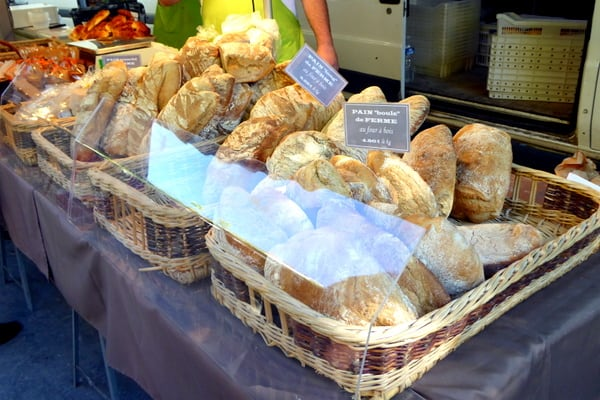 A market wouldn't be a market without French bread
