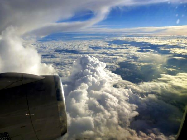 Interesting cumulus clouds