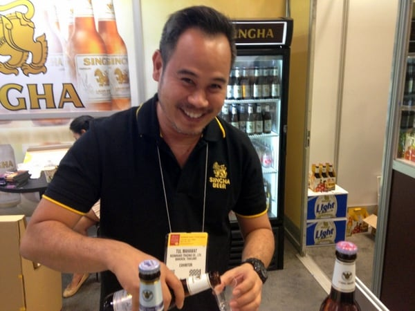 An opportunity to sample Thai Beer - quite delicious!