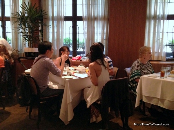 The ground floor dining room at The Leopard at des Artistes