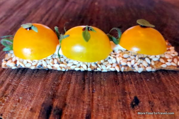 Cherry tomatoes on seeds