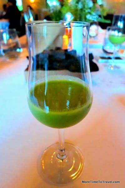 Green garden gazpacho