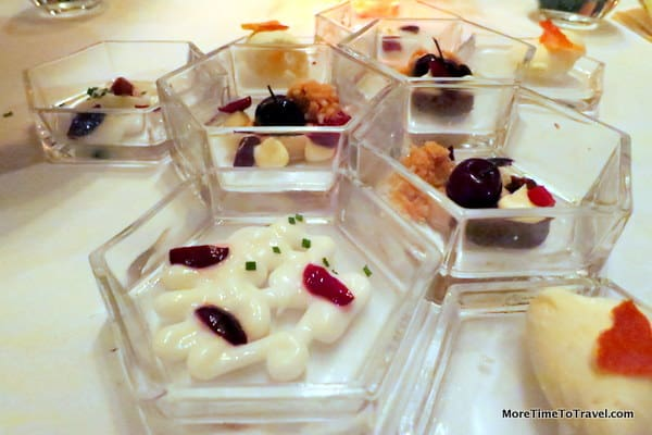 Variations on a theme: Multiple desserts with cherries and cream