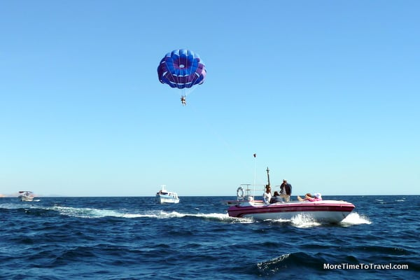 Parasailing on the Sea of Cortez