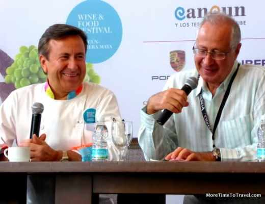 Chef Daniel Boulud and David Amar at Cancun-Riviera Maya Wine & Food Festival