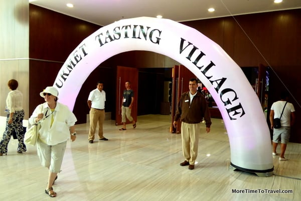 Entrance to Gourmet Tasting Village on grounds of Moon Palace, Cancun-Riviera Wine & Food Festival)