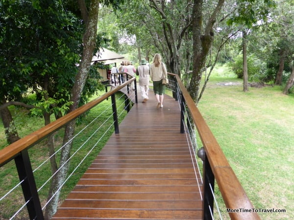 One of the boardwalks on the property