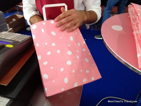 Shopping bags that looked like mortadella
