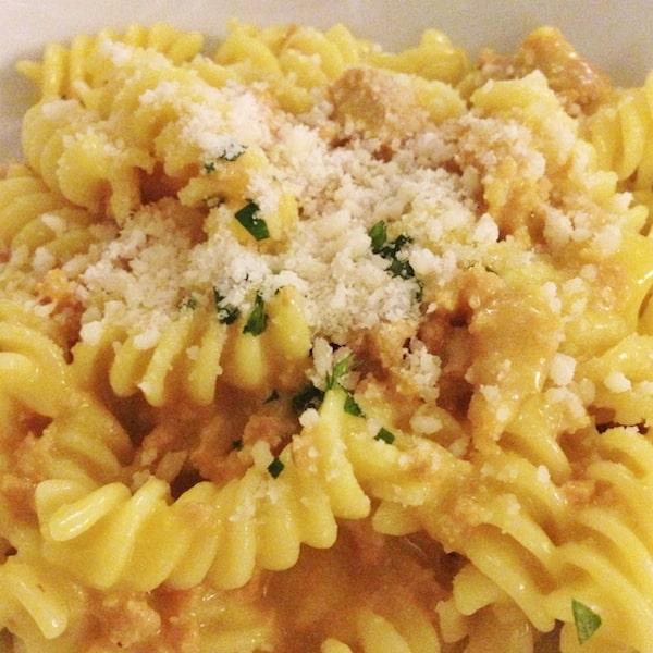 Ragu di coniglio with pecorino cheese (Photo courtesy Flora Pinotti Sano)