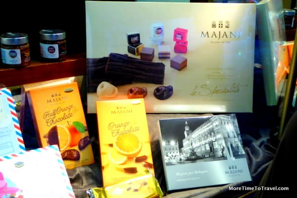 Elegant packaging of Majani chocolates