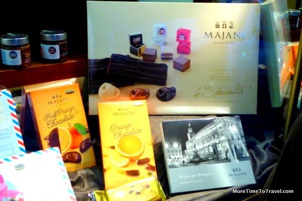 Elegant packaging of Majani chocolates