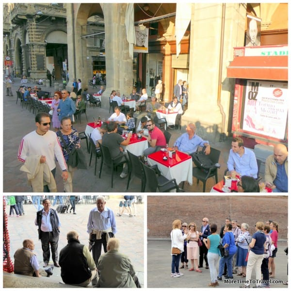 Piazza Maggiore, a people place