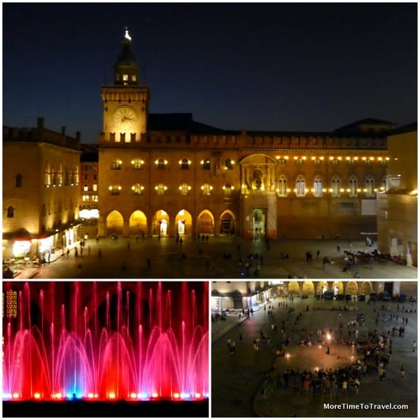 The piazza at night
