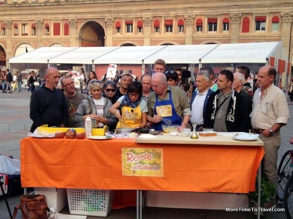 Food demo at the Mortadello Festival