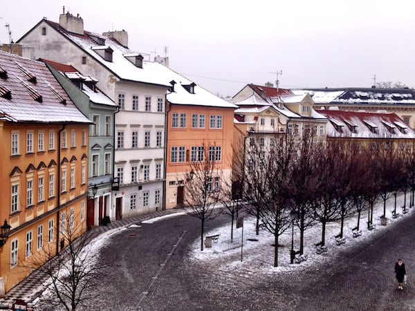 Prague in Winter, taken from the Charles Bridge (Credit: Passing Thru)