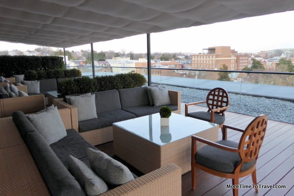 Lounge area overlooking the Potomac